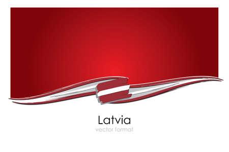 Latvia Flag with colored hand drawn lines in Vector Format Ilustración de vector