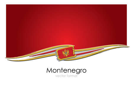 Montenegro Flag with colored hand drawn lines in Vector Format