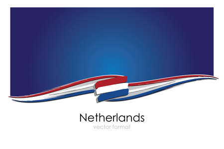 Netherlands Flag with colored hand drawn lines in Vector Format Vetores