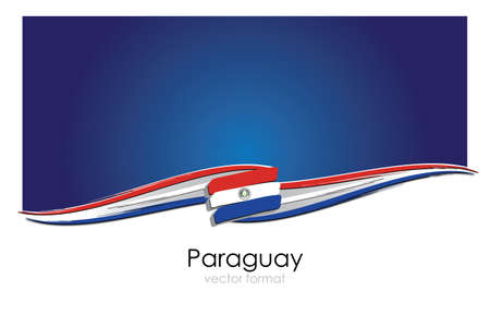 Paraguay Flag with colored hand drawn lines in Vector Format