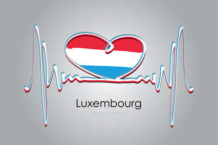 heart and Luxembourg Flag in Vector Format
