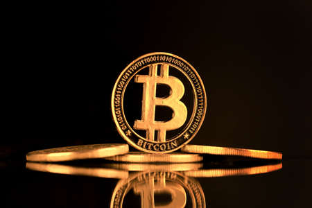 Physical version of Bitcoin. A conceptual image for investors in the fast-growing cryptocurrency and blockchain technology market.