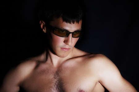 Muscular man. Shot in studio. Stock Photo - 824008