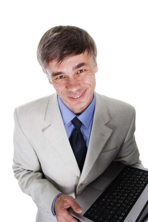 Portrait of a middle age businessman. Shot in studio. Isolated with clipping path. Stock Photo - 804902