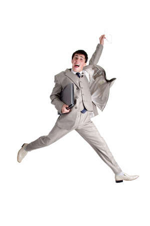 Businessman jumping Stock Photo - 805111