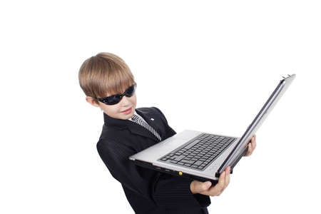 Style  boy with his computer. Stock Photo - 805349