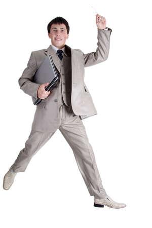 Businessman jumping Stock Photo - 805459