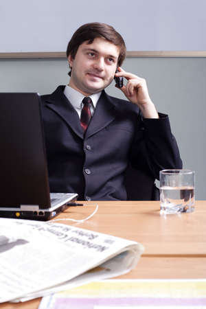 Portrait of a businessman in a working process Stock Photo - 833981
