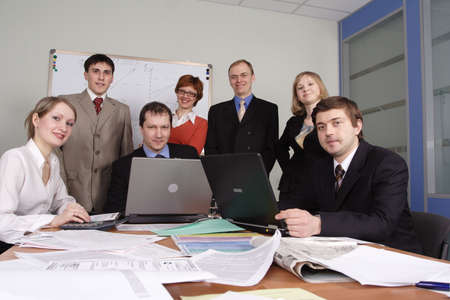 Group of business people working together in the office. Stock Photo - 833944