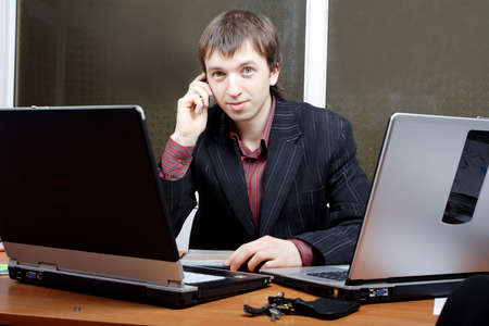 Portrait of a businessman in a working process Stock Photo - 895769