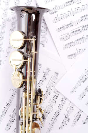 Musical background � instruments. Shot in studio. photo