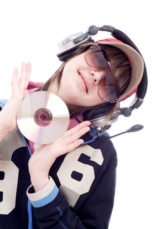 Portrait of a styled professional model. Theme: TEENS, MUSIC, photo