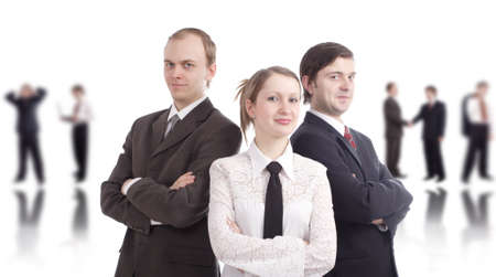 Successful business team. Shot in studio. Stock Photo - 915349
