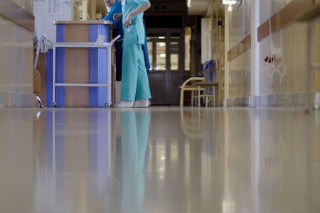 medical attendance: Doctors are working - medicine  background. Shot in a hospital. Stock Photo