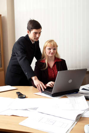 Group of business people working together in the office. Stock Photo - 937852