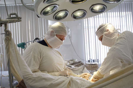 urology: Doctors are working - medicine  background. Shot in a hospital. Stock Photo