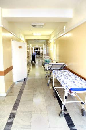 sickbed: Medicine  background. Shot in a hospital.