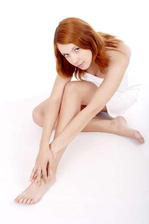 bodyscape: Portrait of a styled professional model. Theme: spa, healthcare.