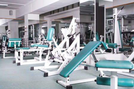excercise: The champion in a fitness center.