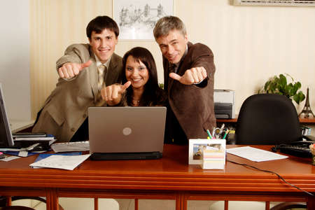 Group of business people working together in the office. Stock Photo - 1179446