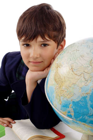 Portrait of a styled children. Theme: education. Stock Photo - 1209244