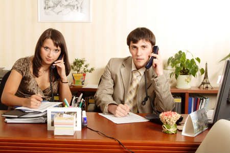 Group of business people working together in the office. Stock Photo - 1254299