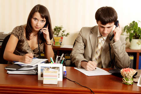 Group of business people working together in the office. Stock Photo - 1318494