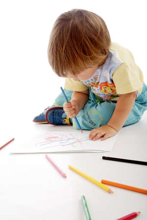Portrait of a styled children. Theme: education. Stock Photo - 1510882