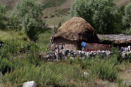 nomadism: Fantastic landscape. Shot in a mountain. Stock Photo