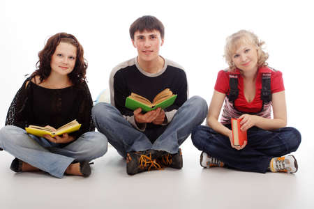 Portrait of a young people.Education background.  photo
