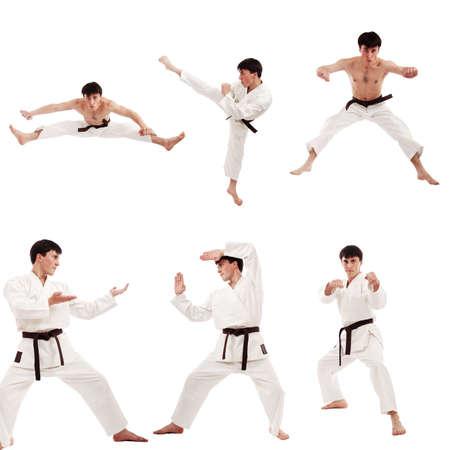 defensa personal: Retrato de un modelo de estilo profesional. Tema: el deporte de artes marciales orientales.