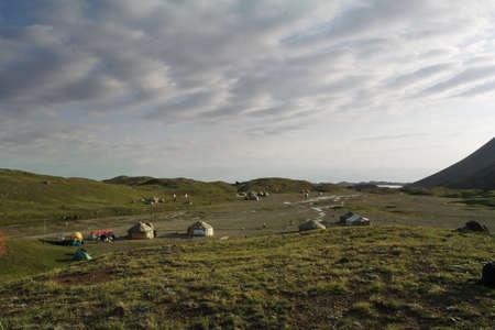 nomadism: Fantastic landscape. Shot in a mountain.