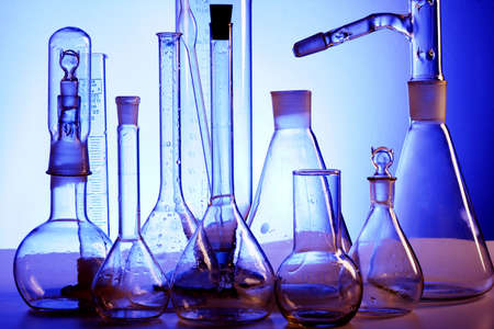 test glass: Medical science equitpment. Research, laboratory, science, testing