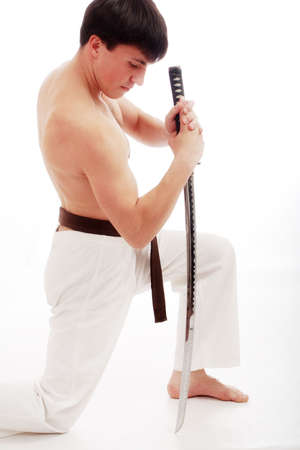 Portrait of a styled professional model. Theme: sport oriental martial art. Stock Photo - 1788095