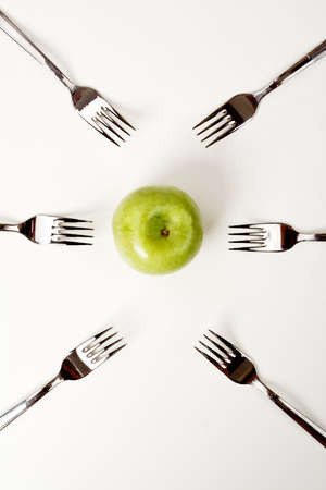 lose weight: Art food background: lose weight, choice, competition