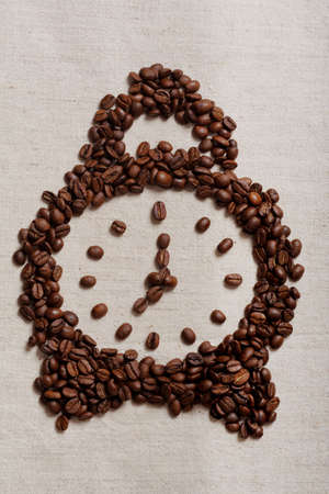 liveliness: Coffee background: Close-up of a beans, cup, mill  Stock Photo