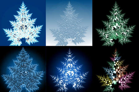 Christmas-tree design 6 version.  Stock Photo - 1936490