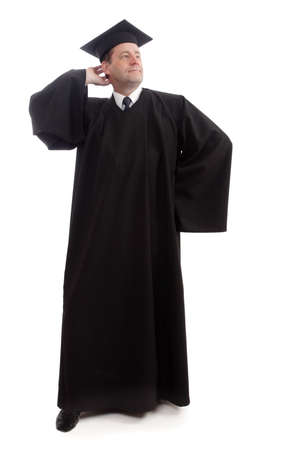 Man in graduation gown Stock Photo - 2067703