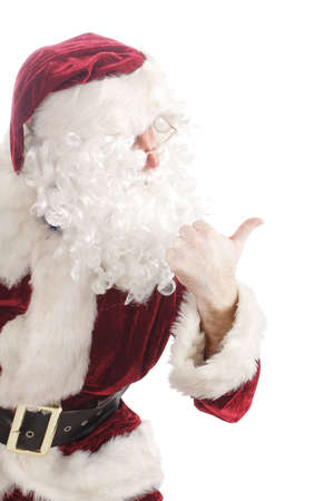 Santa showing the direction photo