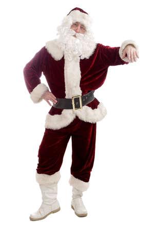 st  nick: Santa posing for the camera