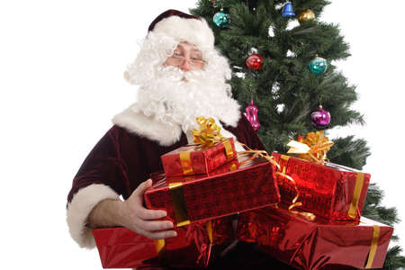 st nick: Santa Claus with gifts