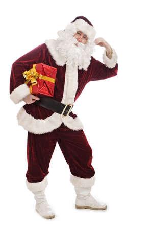Santa holding a gift Stock Photo - 2068958