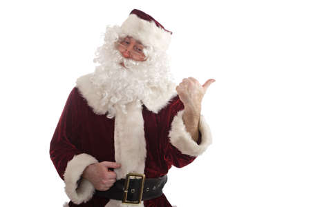 Santa showing thumbs up Stock Photo - 2068801