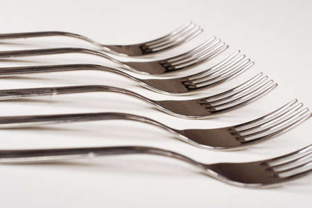 collation: Closeup of a place with fork.