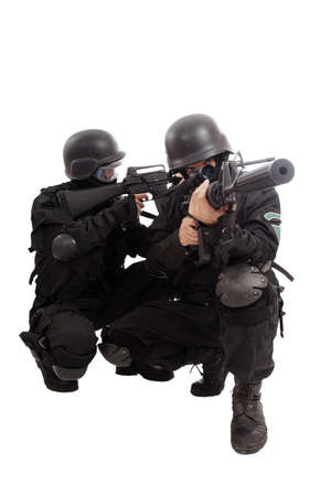 hardball: Shot of two soldiers holding guns