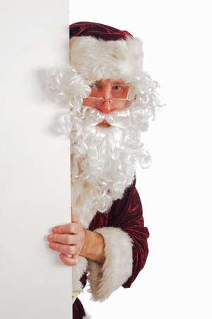 Xmas  background: Santa, gifts, kid. Stock Photo - 2139303