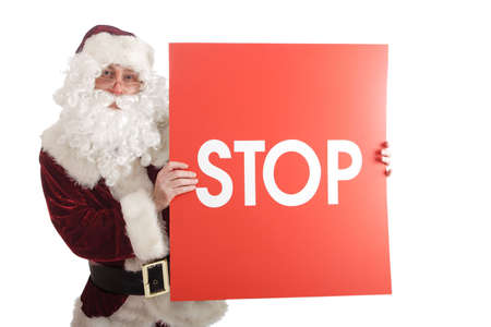 Xmas  background: Santa, gifts, kid. Stock Photo - 2204464
