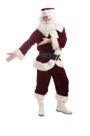 Xmas  background: Santa, gifts, kid. photo