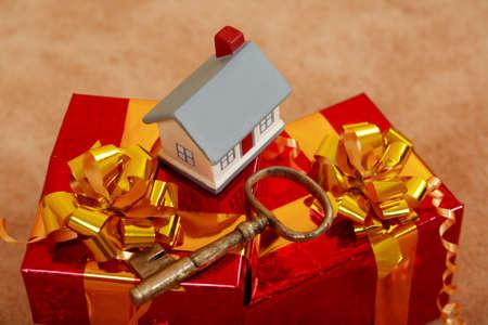 hypothec: Estate background: house, , safety Stock Photo