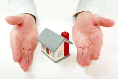 immovable: Estate background: house, , safety Stock Photo